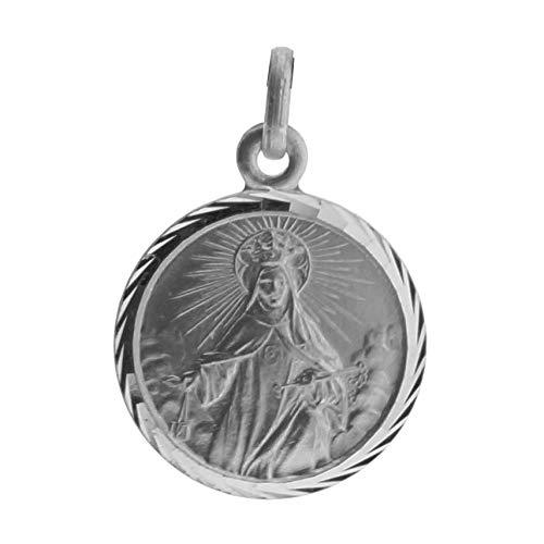 SACRE COEUR - Medalla de Nuestra señora de la Merced | Plata Primera Ley | Patrona de los presos y de Barcelona | con Bisel Estriado