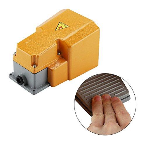Interruptor de pie industrial, Pedal resistente a la corrosión resistente al aceite de aleación de aluminio 250V 10A con protector