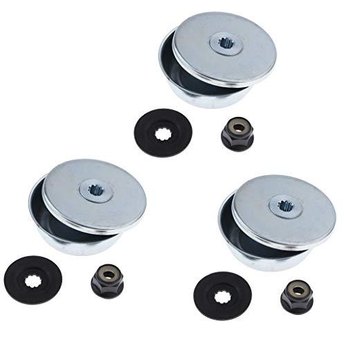 LOVIVER Kit de Fixation Lame en métal Rechange de Haute qualité pour STIHL Tondeuse à Gazon Débroussailleuse
