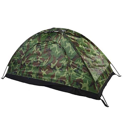 YFFSBBGSDK Camping Zelt 1 4 Personen Tragbares Outdoor Camping Zelt Camouflage Strandzelt Wasserdichtes Bergsteigerzelt Licht