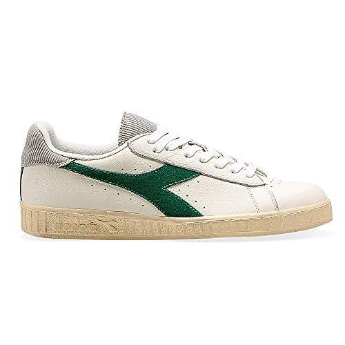 Diadora Game L Low Used White Verdant Green