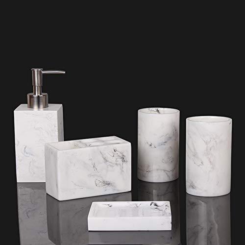 Pack de baño de diseño con patrón de mármol