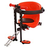 Onefa Child Front Seat with Belt, Kids Mountain Bike Safety Front Seat Chair Carrier, Stable Baby Bicycle Sport Seats, Children Bike Seat, Child Cycling T-Seat for Outdoor Sport Travel (Red)