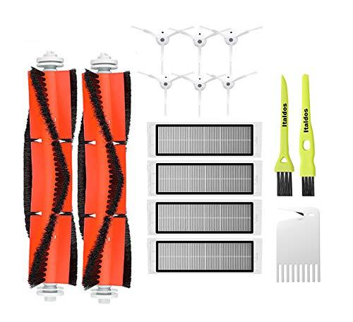Italdos Kit CepillosFiltros para Xiaomi Roborock S50 S51 S55 S5 Aspiradora Robot- 6 Cepillo Lateral + 4 HEPA Filtros + 2 Cepillo Principal + 2 Pinceles
