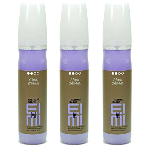 Wella Eimi Thermal Image - Espray protector de calor para el cabello, 3 x 150 ml