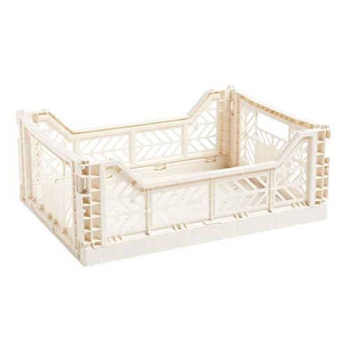 Hay Caja Plegable, Polipropileno, Color Blanco, 40 x 30 x 14,5 cm
