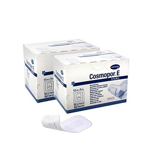 Hartmann Cosmopor E Wundpflaster steril 2 x 50 Stück 7,2 x 5 cm