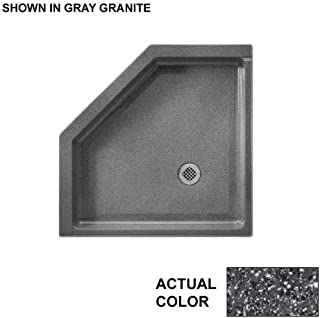 Swanstone SN00036MD.012 Solid Surface Neo-angle Shower Base, 36-in L X 36-in H X 5.5-in H, Night Sky