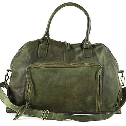 BZNA Bag Camilla verde grün Italy Designer Weekender Damen Handtasche Schultertasche Tasche Leder Shopper Neu