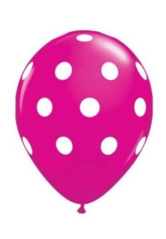 36ct Assorted Pink Light Pink Clear Polka Dots Balloons