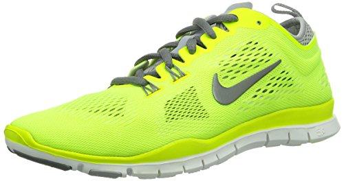 Nike Free 5.0 Traing Fit 4 - Zapatillas de running para Mujer, Amarillo - Grün (Volt/Cool Grey-Wolf Grey-White), 36.5