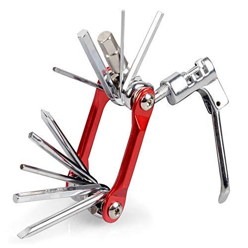 Home gyms Qualité Haut de Gamme MLT10 Bike Multi Tool - 10-in-1 Multi-Fonctions Cyclisme Maintenance Tool - Portable fiable, Built to Last et Facile à Utiliser (Color : Red)