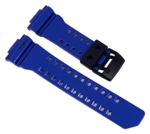 Casio G-Shock Uhrenarmband Resin Band Blau für GBA-400 10479600