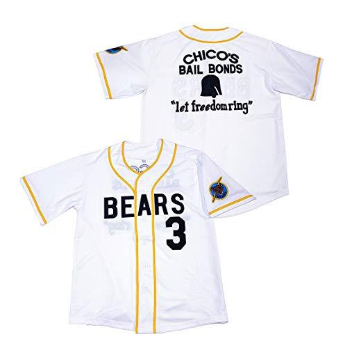 Kooy Kelly Leak #3 Bad News Bears Movie 1976 Chico's Bail Bonds Baseball Jersey (#3 Kelly Leak, X-Large)