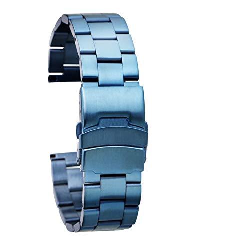 MGHN Banda de Reloj de Acero 20 / 22mm Oro/Acero Inoxidable sólido Banda de Reloj Oro Rosa/Azul Plegables Bandas de Repuesto Broche de Metal Correas