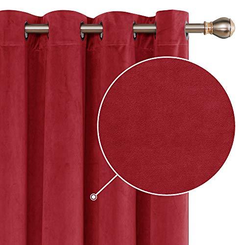 cortinas opacas salon rojas
