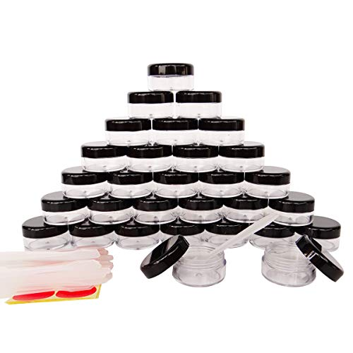 30Pack 10 Gram Small Clear Cosmetic Sample 10ml Empty Containers for...