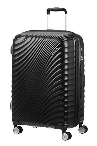 American Tourister Jetglam Spinner M Espandibile Valigia, 67 cm, 77.5 litri, Nero (Metallic Black)