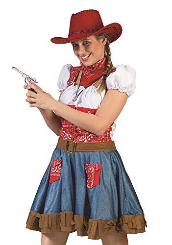 Disfraz de vaquera Arizona para mujer – Fantástico disfraz de Oeste Wild Oeste para carnaval, fiesta temática, actuación teatral. multicolor 42-44