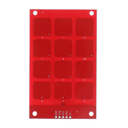 H HILABEE MPR121 Capacitive Touch Einfache Tastatur I2C Ausgang Kompatibel Arduino