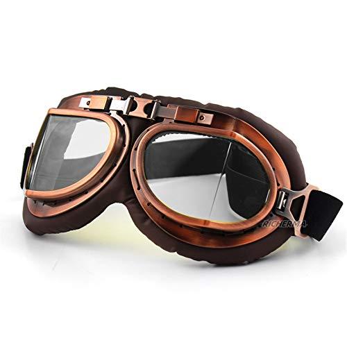 Gafas de Motocicletas a Prueba de Polvo Mujeres Hombres Lentes Transparentes Casco Gafas for Motocross Conductor Ciclismo Senderismo Gafas de Sol (Color : Transparent Lenses)