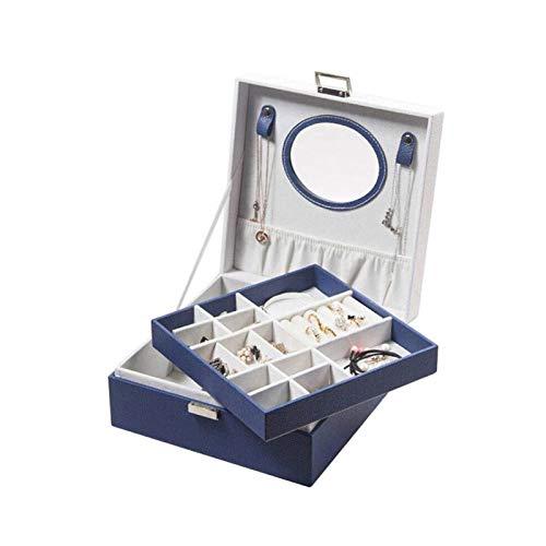 SHYPT Joyería de la Caja, con el Portable de la joyería del Organizador del Recorrido y Desmontable Collares Ganchos, Reloj Cubos, Vagón Cubierto, Regalo for Loved Ones