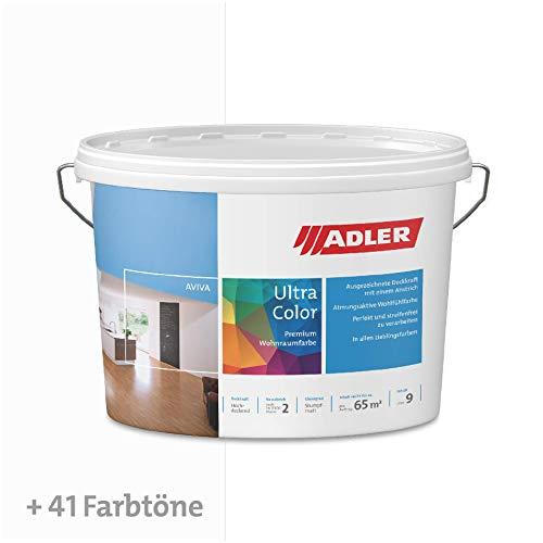 ADLER Ultra-Color Wandfarbe - Volltonfarbe und Abtönfarbe in 100+ Farbtönen - Kreide C12 177/7 Weiß 1 l Atmungsaktiv, Hochdeckend, Lösungsmittelfrei