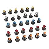 30 Pcs Potenziometro Manopole Controllo Knob Kit Multicolori...