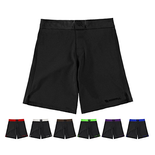 Sanabul Essential MMA BJJ Cross Training Workout Shorts (34 inch W, Black)