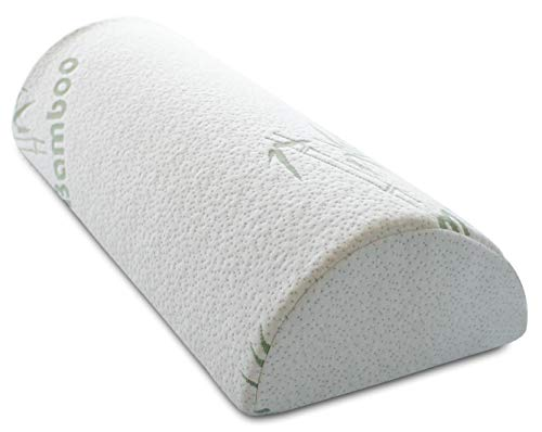 "InteVision Four Position Support Pillow (20.5"" x 8"" x 4.5"") with Bamboo Cover - Provides Best Support for Sleeping on Side or Back - Helps Relieve Back Pain"
