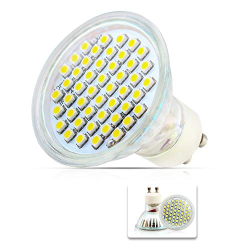 Mengjay® 1 Stück - GU10, AC 220–240 V led leuchtmittel 2,5 W 2835 SMD 48 LED Energiesparend Leuchtmittel Warmweiß Licht