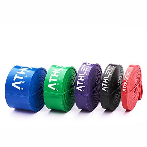 Premium Widerstandsbänder + Tasche und Übungsanleitung – Fitnessbänder - 3