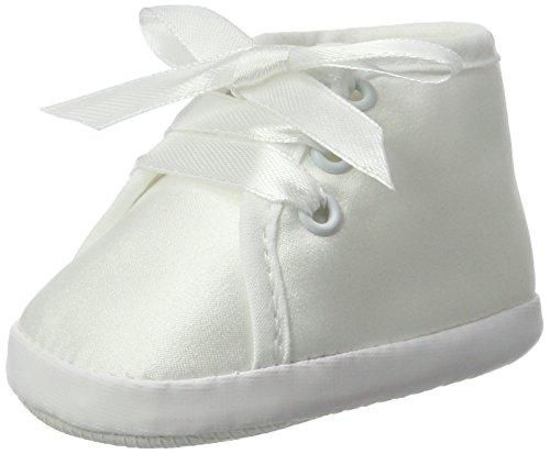 Seruna Festliche-r Baby-Schuh TP13 Gr. 17 Tauf-Schuhe weiß für Babies Junge-n und Mädchen zu Hochzeit-en