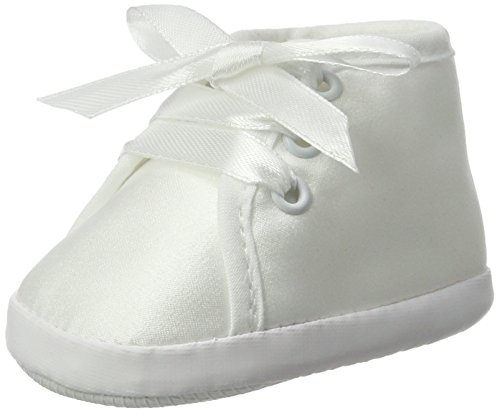 Seruna Festliche-r Baby-Schuh TP13 Gr. 18 Tauf-Schuhe weiß für Babies Junge-n und Mädchen zu Hochzeit-en