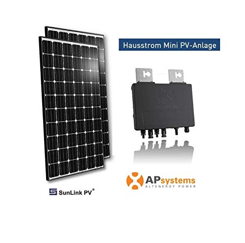 Minisolar Balkon Solar Mono Duo 660 W inkl. Standalonekabel, Hausstrom Mini PV-Anlage mit Micro-Inverter Hausstrom Mini PV-Anlage 660 Watt - Solarmodule Fabr. Trina - Model TSM-DE06M (II)
