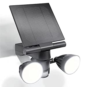 Wasserstein Blink Floodlight & Solar Panel Charger, Motion-Activated, Compatible with Blink Outdoor & Blink XT2/XT Camera (Black)