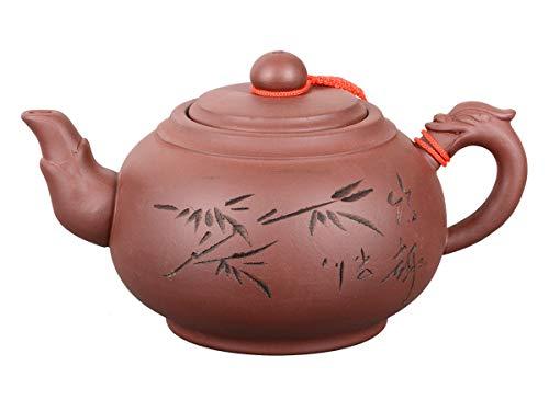 Aricola Tonkanne chinesische Schriftzeichen 500ml, Drachenhenkel hell