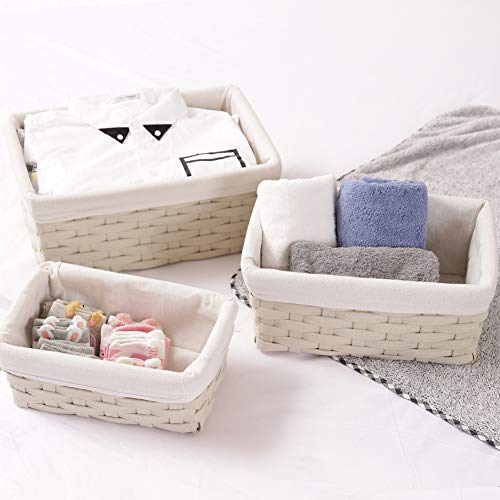 Badger Decorative Basket With White Liners Set Of 3  from m.media-amazon.com