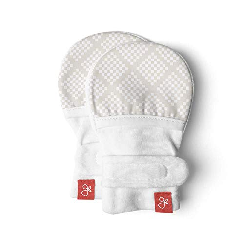 Goumikids Unisex Baby Diamond Dots Mitts -Cream-3-6 Months