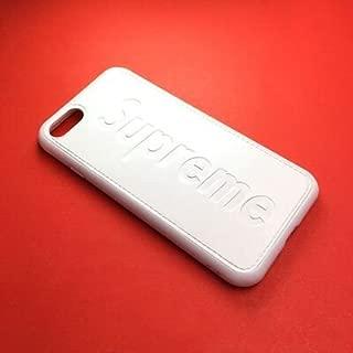 QEMILYQ Street Fashion iPhone 8 Plus Case, iPhone 7 Plus Case, White TPU Leather Slim Fit Soft Case for iPhone 8 Plus iPhone 7 Plus -US Fast Deliver