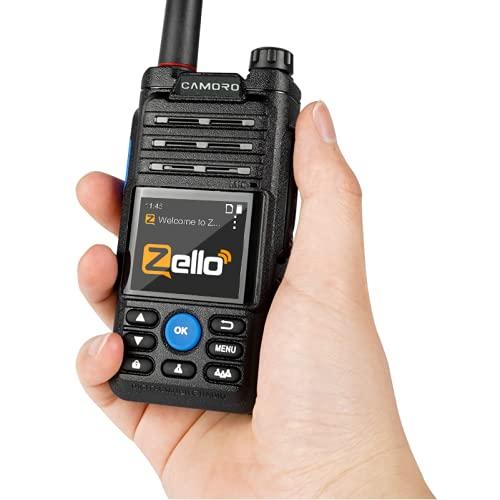 6800mAH 4G GPS Transceptor Zello Walkie Talkie Inalámbrico WiFi Bluetooth Real PTT Poc Radio Impermeable Radio bidireccional de Largo Alcance Android Walkie Talkie para Adultos niños