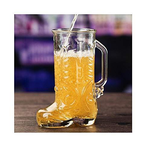 Ding&ng Copa de Botas con Copa de Jugo Espesa, Vaso de Personalidad Creativa, Jarra de Cerveza@600 ml