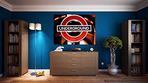 G | Cuadro Underground | Fabricado en PVC Forex 5 MM | Medidas 100cm x 70cm | Fácil colocación | Diseño Elegante | Impresión Digital (1 Unidad)