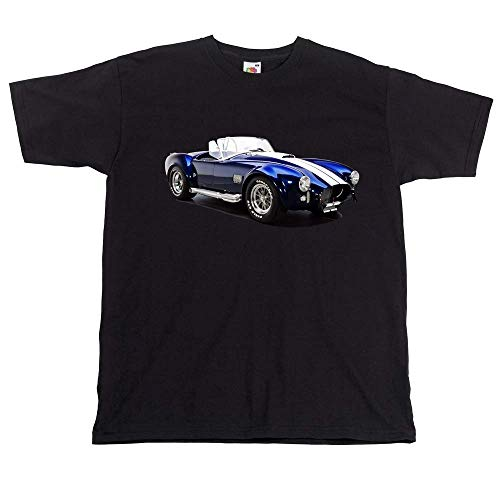 LJAH AC Cobra T Shirt Car Shelby Cobra Tshirt Top Sweatshirt Short Sleeve Black XL
