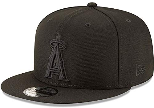 Authentic Angels Black On Black 9Fifty Snapback OSFM Hat Cap- Adjustable