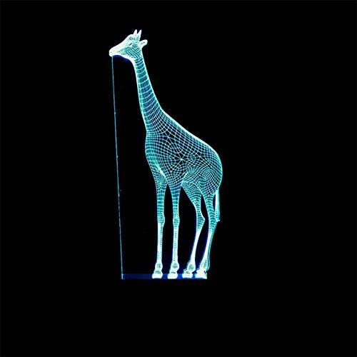 baby Q LED 3D Lampe, Lumières colorées de Contact de Girafe, lumières de Gradient acryliques, lumière d'alimentation d'USB