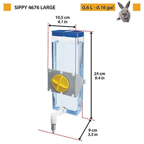 Ferplast 84676070 Nager-Trinkautomat SIPPY 8476 LARGE, Befestigung am Gitter oder an glatten Oberflächen, Inhalt: 600 ml - 2