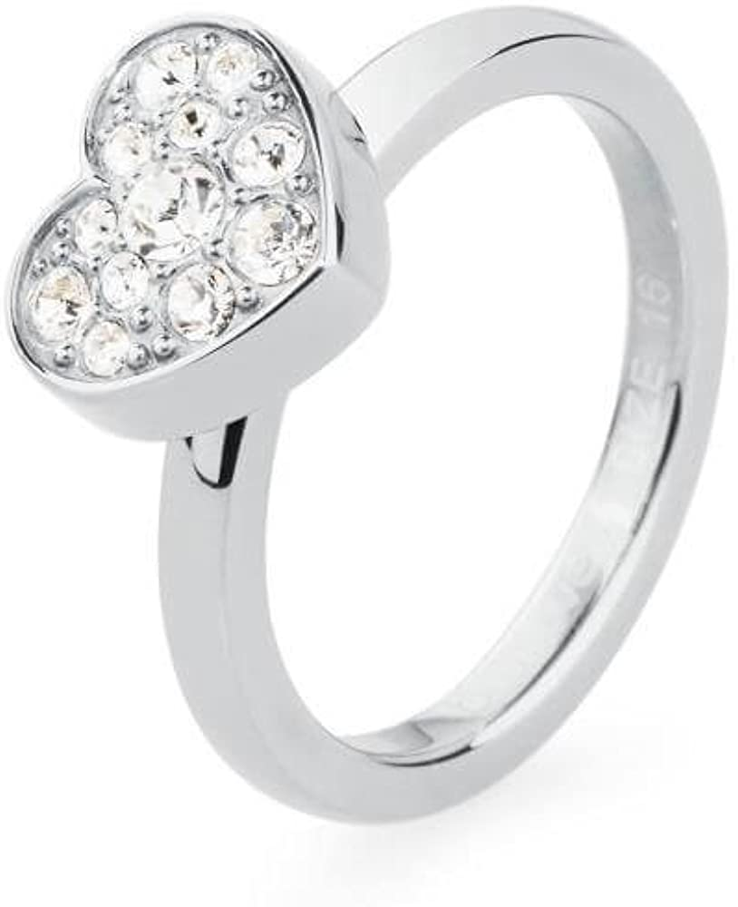 Brosway tring anello per donna in acciaio con swarovski 1391