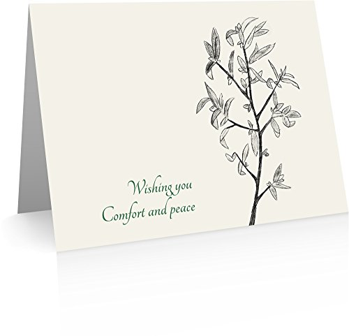 Peace and Comfort Sympathy Cards (20 Foldover Cards and Envelopes)