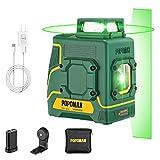 Livella Laser Verde POPOMAN, 1x360° Linea Laser 30M, Ricarica USB Batteria al Litio, Auto...
